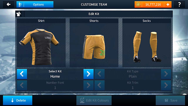 Kit Dream League Soccer Ojek Online Uber Kuning