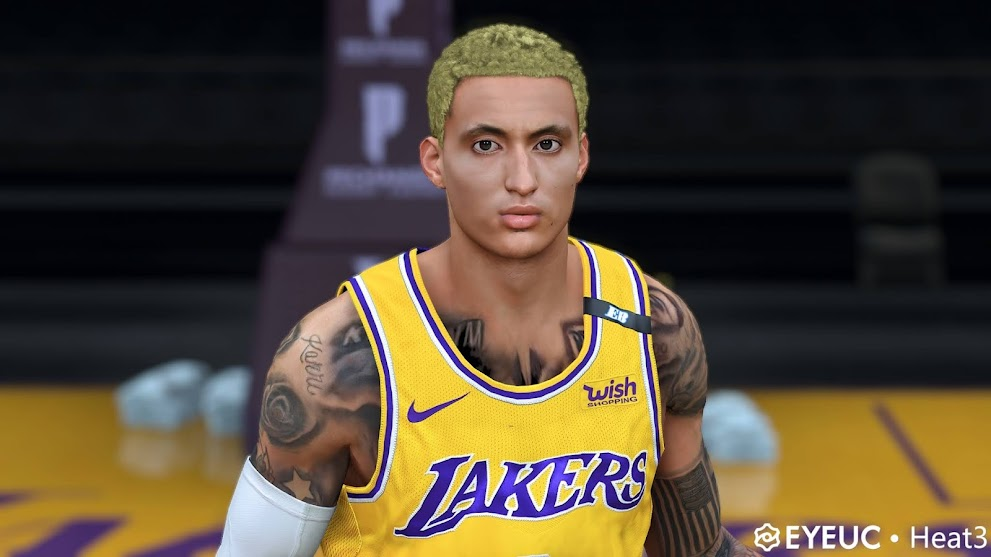 Kyle Kuzma Cyberface, Yellow Hair update and Body Model By heat3 [FOR 2K21]
