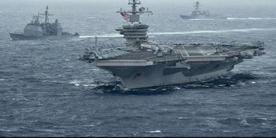 Kapal Induk AS dan China Dikerahkan di Laut China Selatan, Kuat Mana?