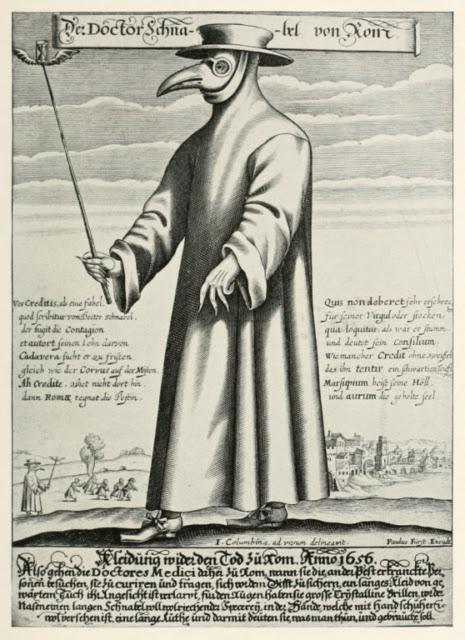 Masker burung yang digunakan oleh dokter untuk mengatasi wabah pada abad pertengahan di Eropa