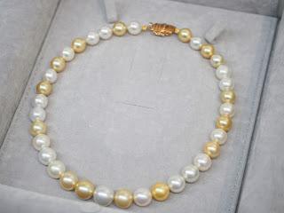 大きな白蝶真珠のネックレスをお買い取り致しました