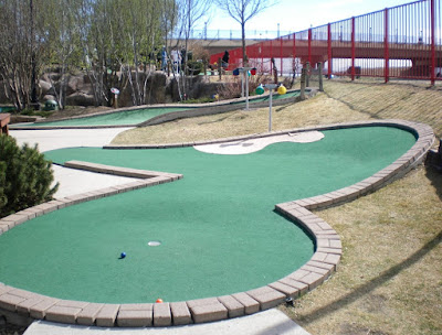 Miniature golf at Boondocks Fun Center in Northglenn, Colorado
