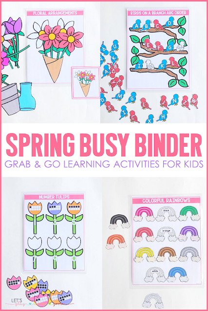 Are you looking for simple hands on learning activities to keep your young learners engaged and learning while playing? Maybe you have a thing for sweet treats? This Sweet Treats Busy Binder for preschool and kindergarten has ten interactive learning activities that are perfect for any time of year and will keep your learner engaged and having fun while learning. Check out all ten spring themed learning activities and grab a copy for your home or classroom here.