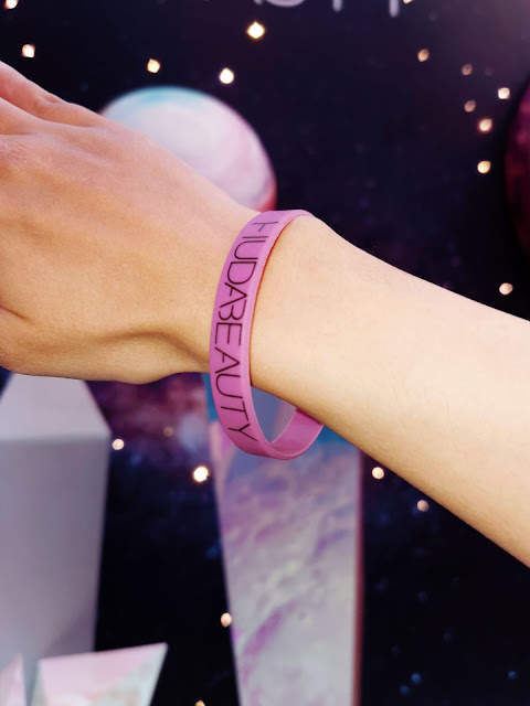 Huda Beauty pop up event wristband