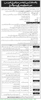 Join Pak Army Defence Security Forces 2020 - Latest Pak Army Defence Security Forces Jobs October 2020