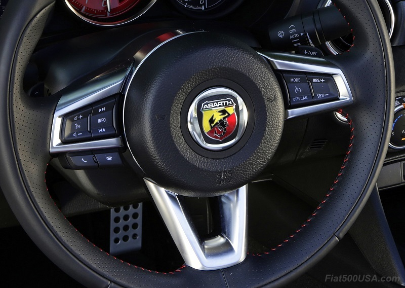Confirmed: Abarth Steering Wheel Badge Coming! | Fiat 500 USA