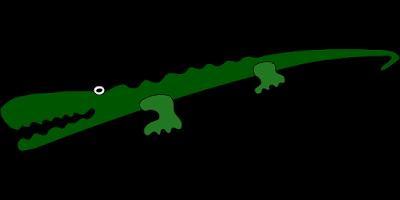 Desenho de um jacaré verde