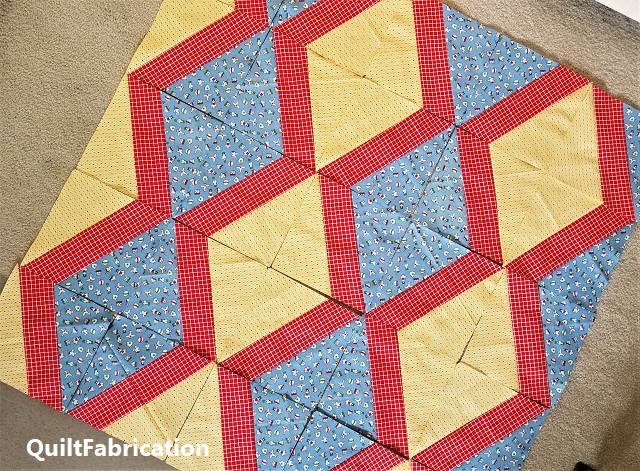 X-block diamond quilt