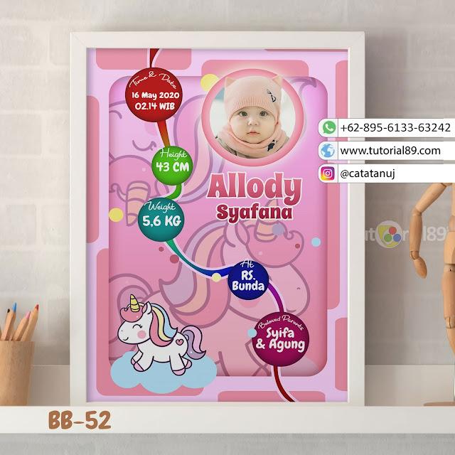 Biodata Bayi Costume Unik Kode BB52 | Unicorn Pink