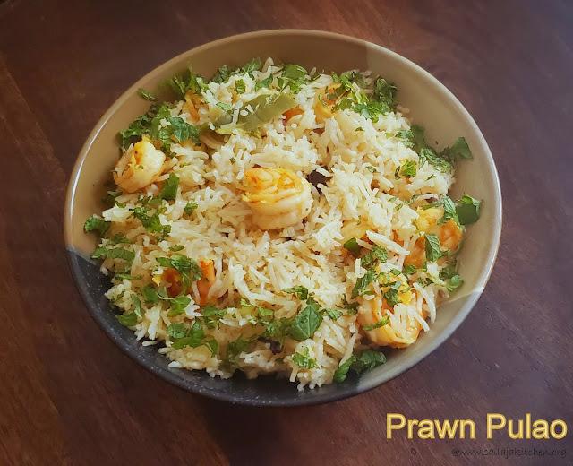 images of Prawn Pulao / Shrimp Pulao / Shrimp Pulao with Coconut Milk / Coconut Milk Prawn Pulao