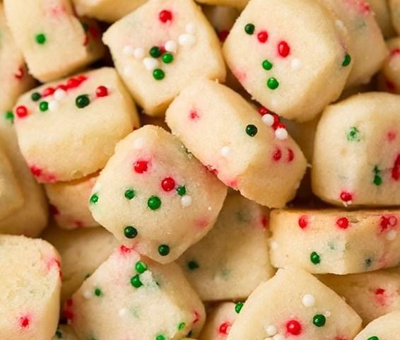 Funfetti Shortbread Bites #desserts #christmas