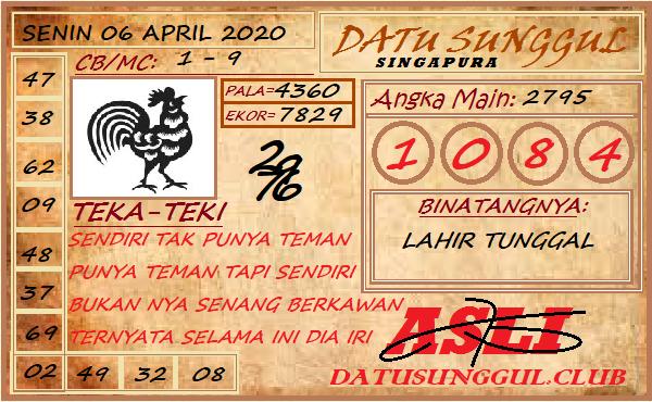 Prediksi HK Malam Ini Senin 06 April 2020 - Datu Sunggul HK