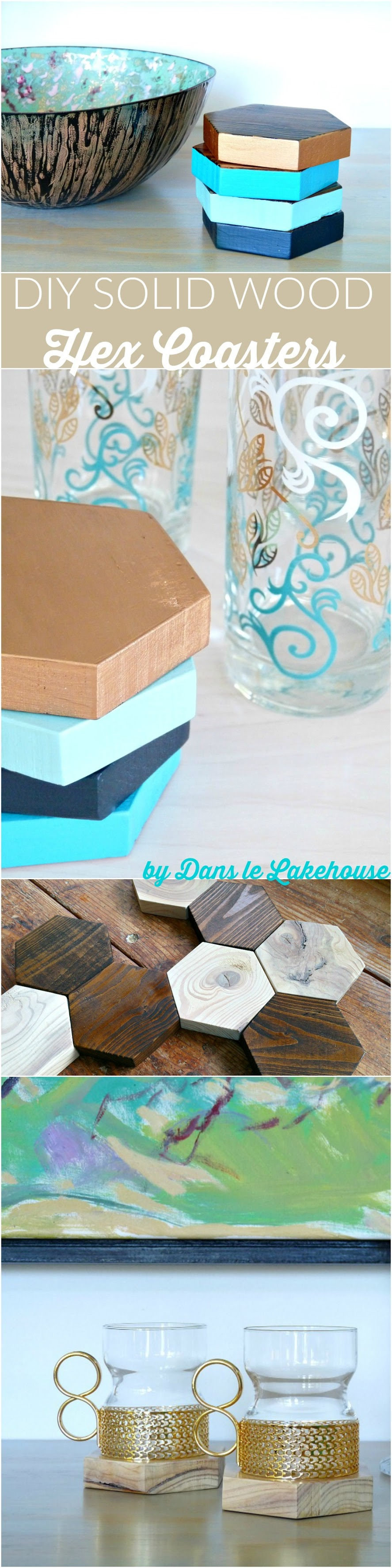 DIY Solid Wood Hex Coaster - Two Ways