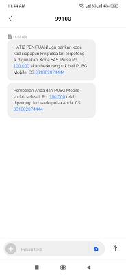 Bukti Total Pembayaran UC Gratis PUBG Mobile