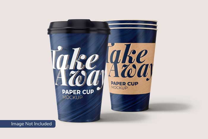 Take Away Paper Cup PSD Mockup