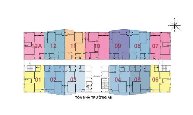 Mặt bằng tòa Trường An (CT1)