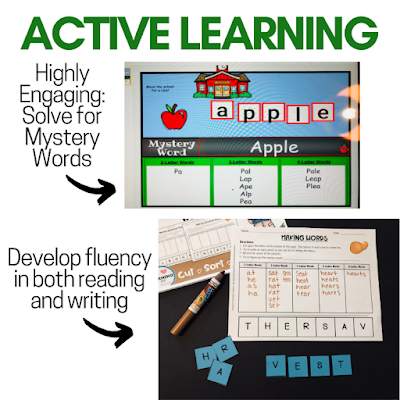 Highly engaging mystery word sorts, keep learning fun for phonics spelling reading and writing. Develop fluency in literacy skills
