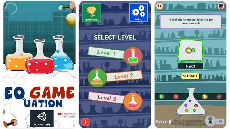 Daftar Game Android untuk Belajar Kimia, ChemEQ Game