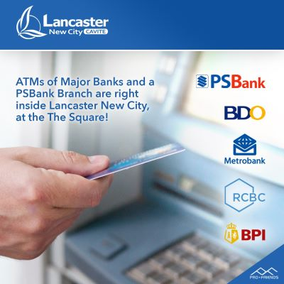ATM of major banks are right inside Lancaster New City