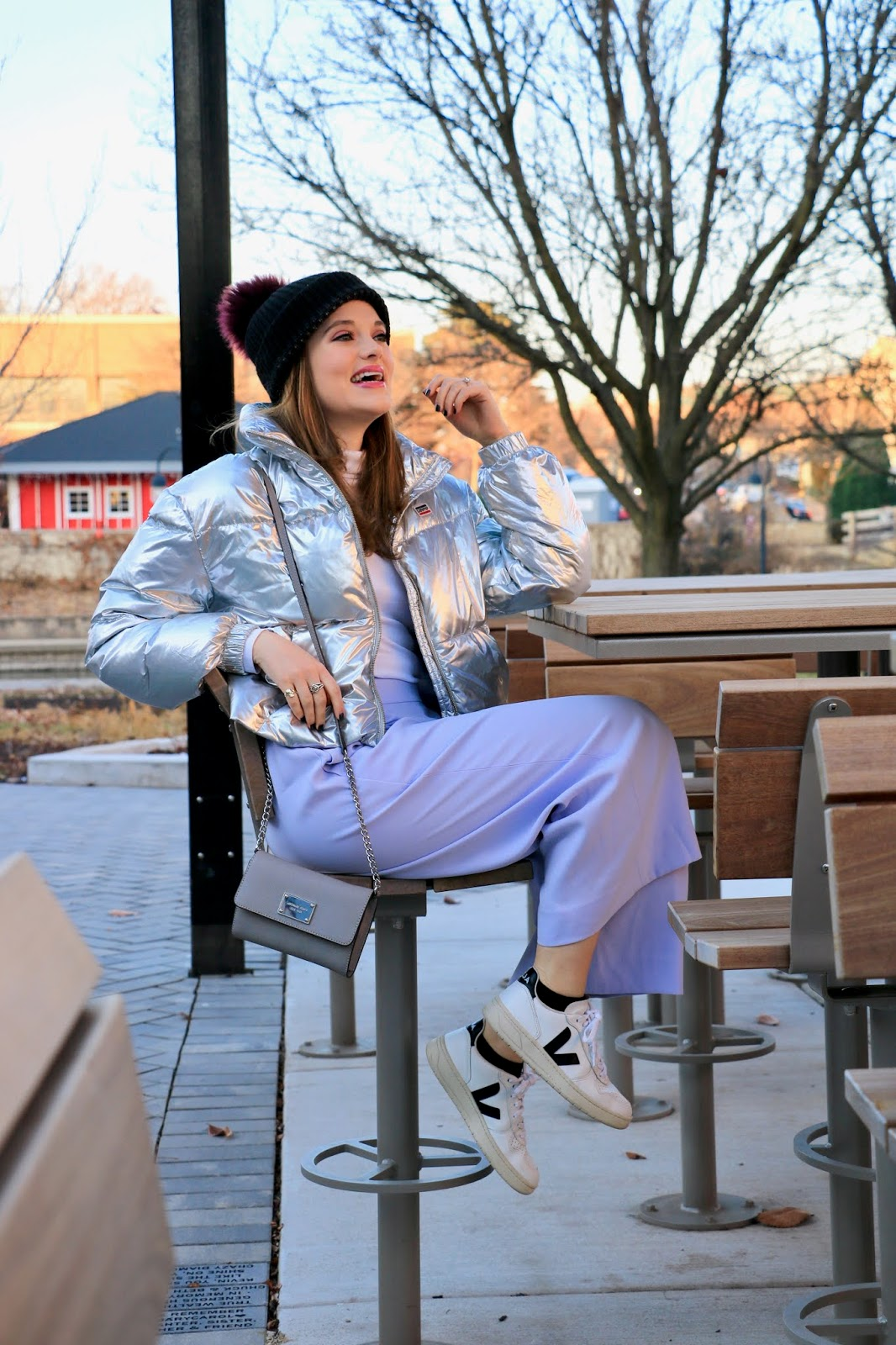 Nyc fashion blogger Kathleen Harper wearing a winter outfit idea.