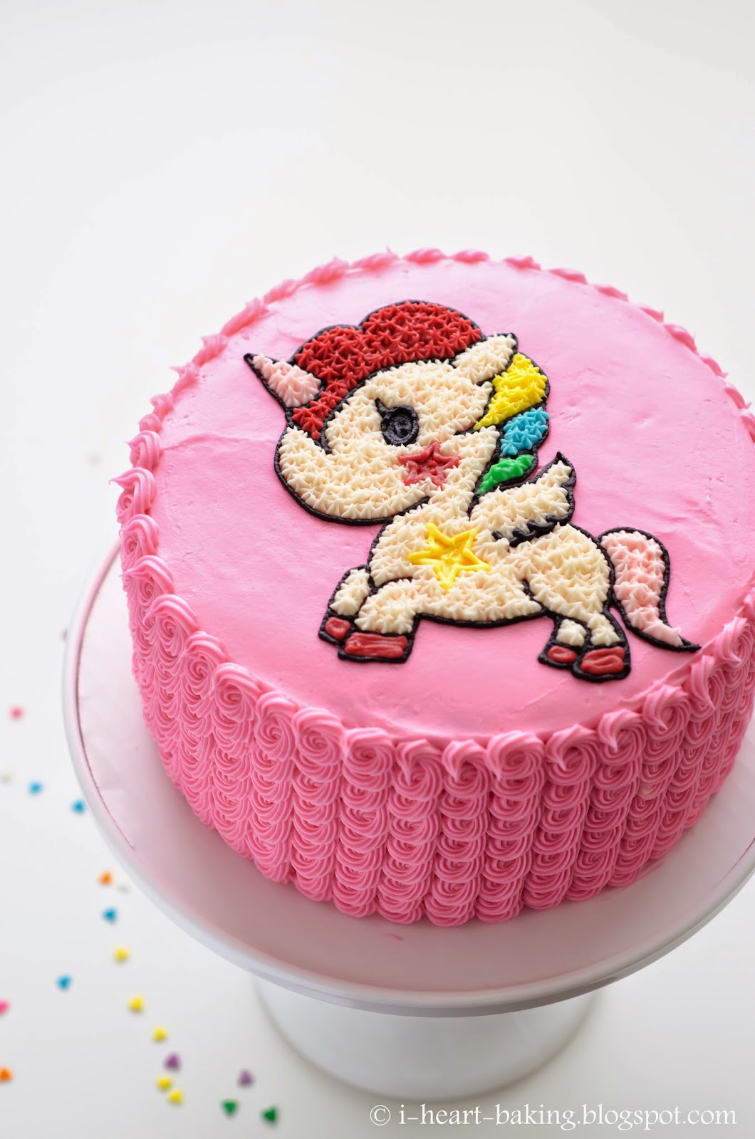 I Heart Baking Tokidoki Unicorn Funfetti Cake