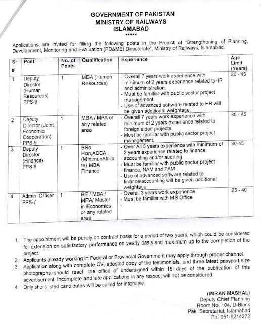 Pakistan Railways Jobs 2020