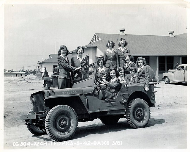 WACs in a Jeep, 5 May 1942 worldwartwo.filminspector.com
