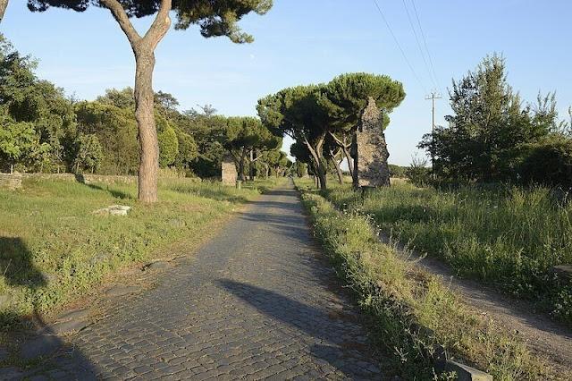 Roma carretera construida en el 312 a. C.