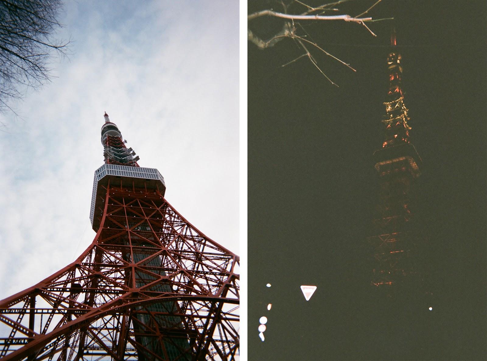 Tokyo in Disposable Camera Tokyo Tower | www.bigdreamerblog.com