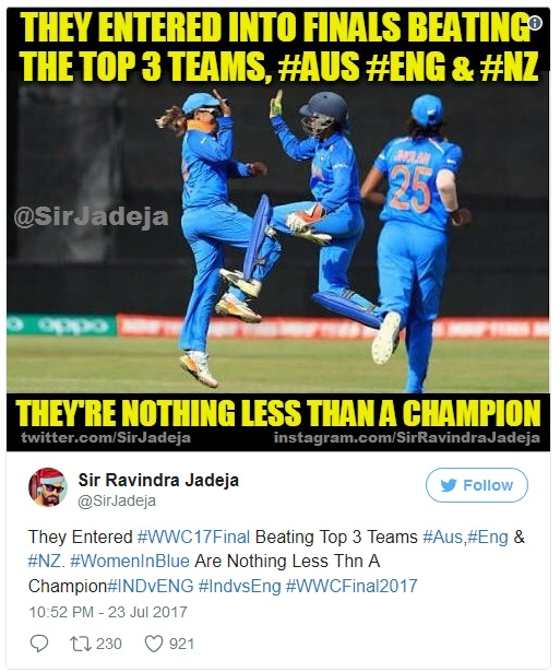 tweet -Women's World Cup final