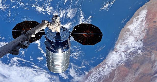 S.S. Gene Cernan Cygnus at ISS. Credit: Orbital ATK