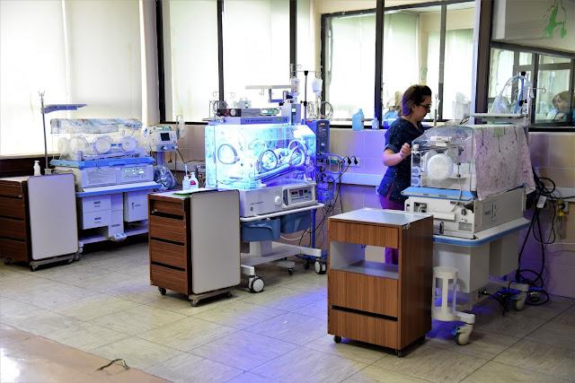 Nenonatologjia furnizohet me 13 inkubatorë dhe  dhe 5 infratavolina