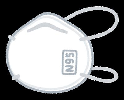 N95マスクのイラスト