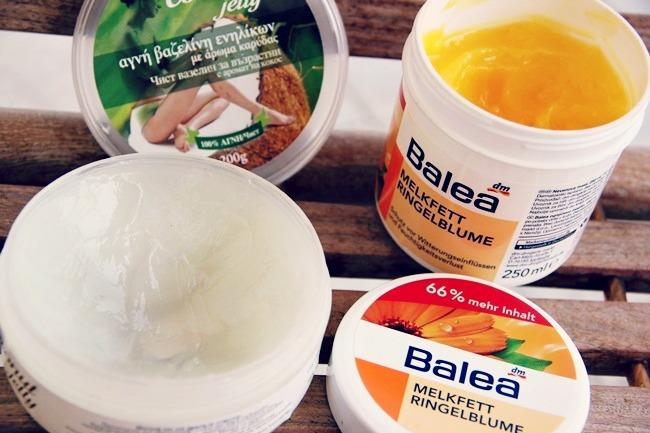 Kokos vazelin i Balea mast za nevenom, proizvodi za vrlo suvu kozu