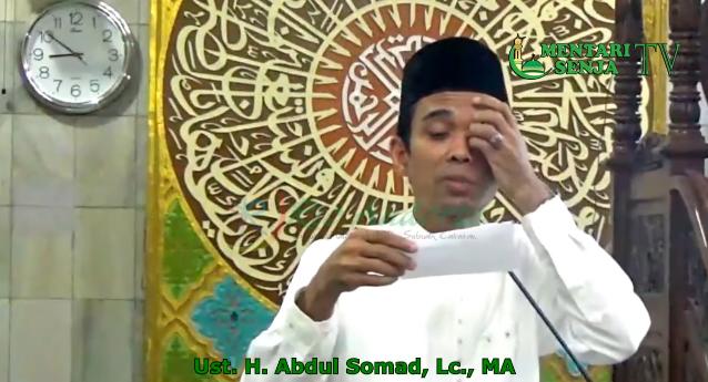 Ketika Ustadz Abdul Somad Tak Mampu Menjawab Pertanyaan Jama'ah, Jangan Kaget Simak Dulu Videonya!