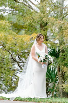 bridal portraits outside