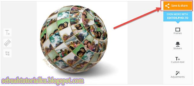 Membuat Foto Efek Globe 3D