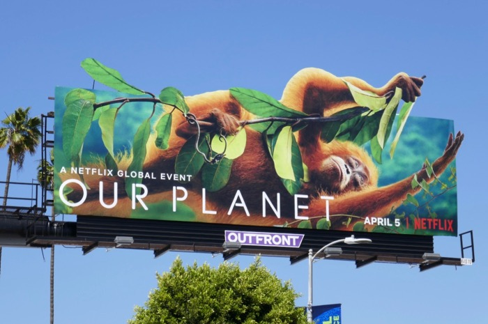 Our Planet Orangutan extension cut-out billboard