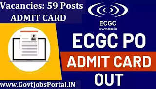 ECGC PO Exam Admit Card 2021