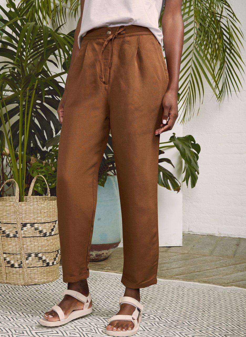 my midlife fashion, baukjen Cooper linen blend trouser
