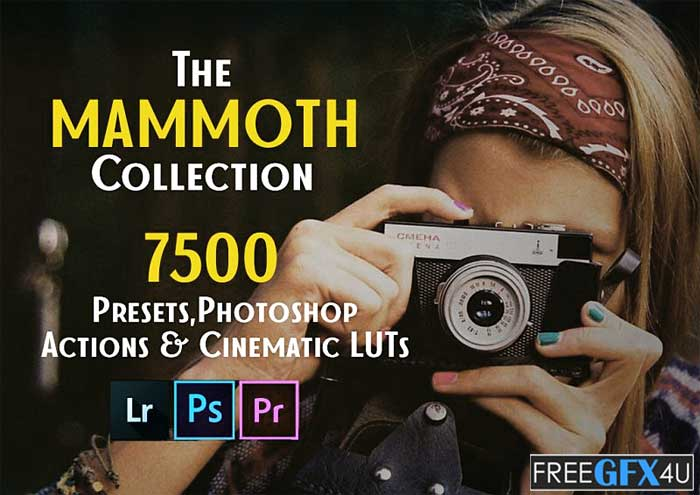 Lifetime Collection Of 7500 Lightroom Presets, Photoshop Actions, And Cinematic LUTs