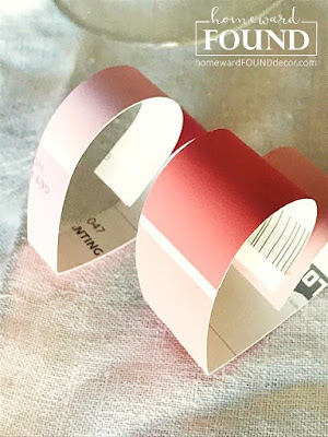 paper valentines day heart decor, paint chip decor, paint theme party, pink, valentines day, hearts, home decor, diy home decor, paper crafts, pink party decor