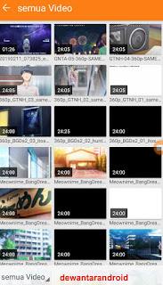 pemilihan video yang akan di potong