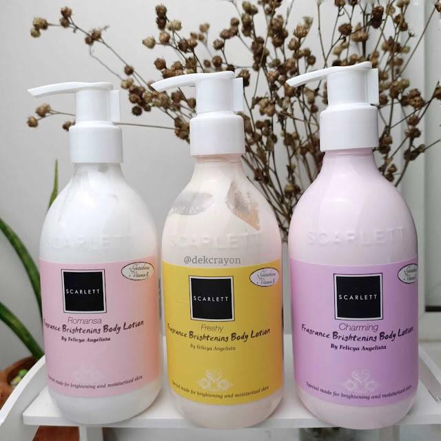 review scarlett brightening body lotion