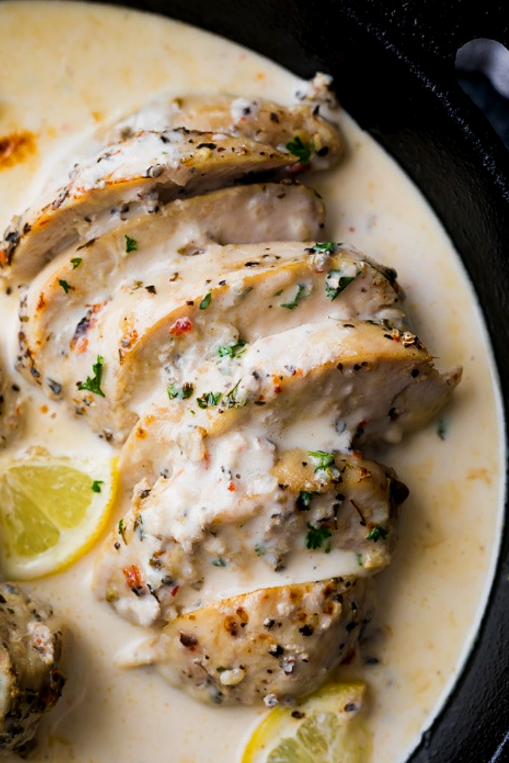 Creamy Lemon Garlic Instant Pot Chicken - Recipe SpecialFoood