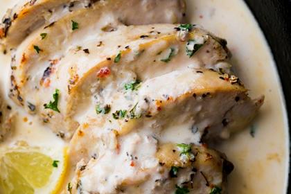 Creamy Lemon Garlic Instant Pot Chicken