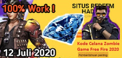Mau Celana Zombie Game Free Fire? Berikut Kode Redeem Bundle Plague Doctor dan Cepcil Celana Zombie Game Free Fire Terbaru Berlaku Hingga 15 Juli 2020