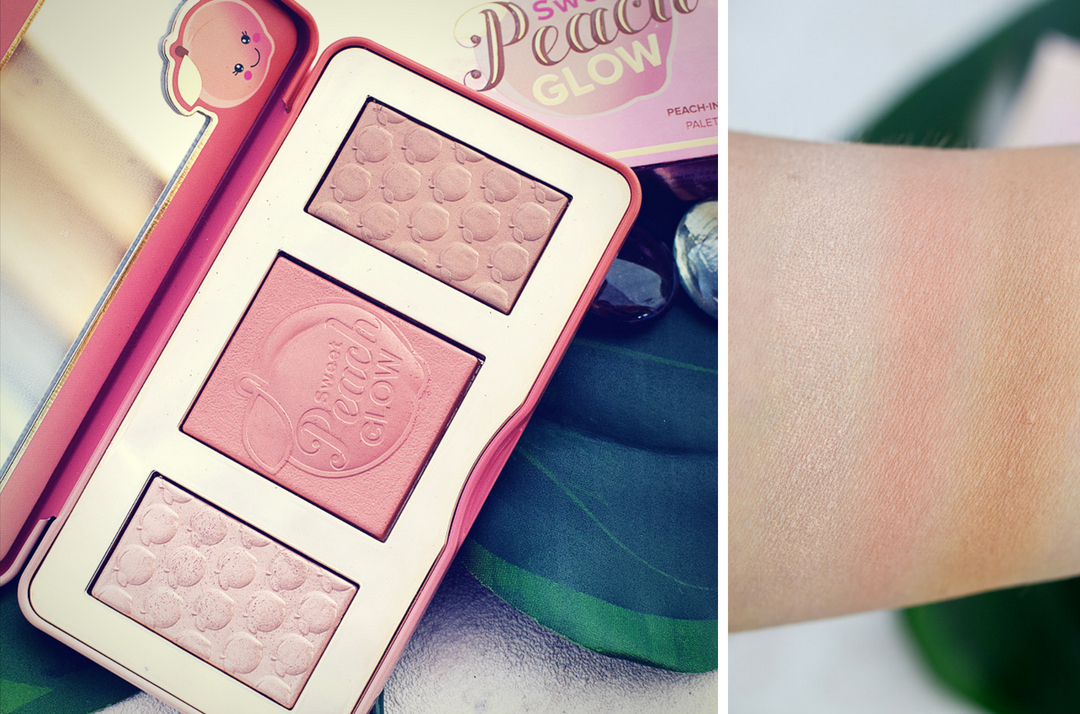 alle Infos und Swatches zur Too Faced sweet peach glow Palette