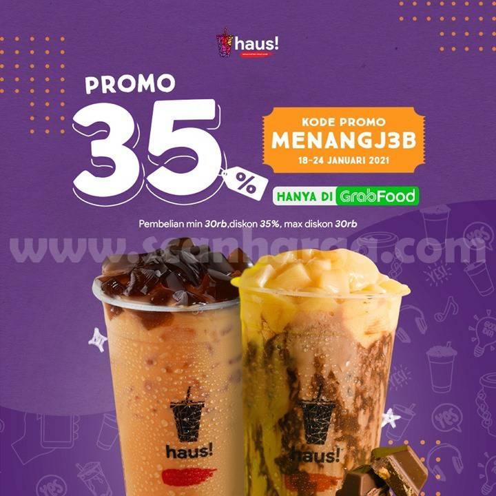 HAUS Promo Spesial GRABFOOD! DISKON 35%