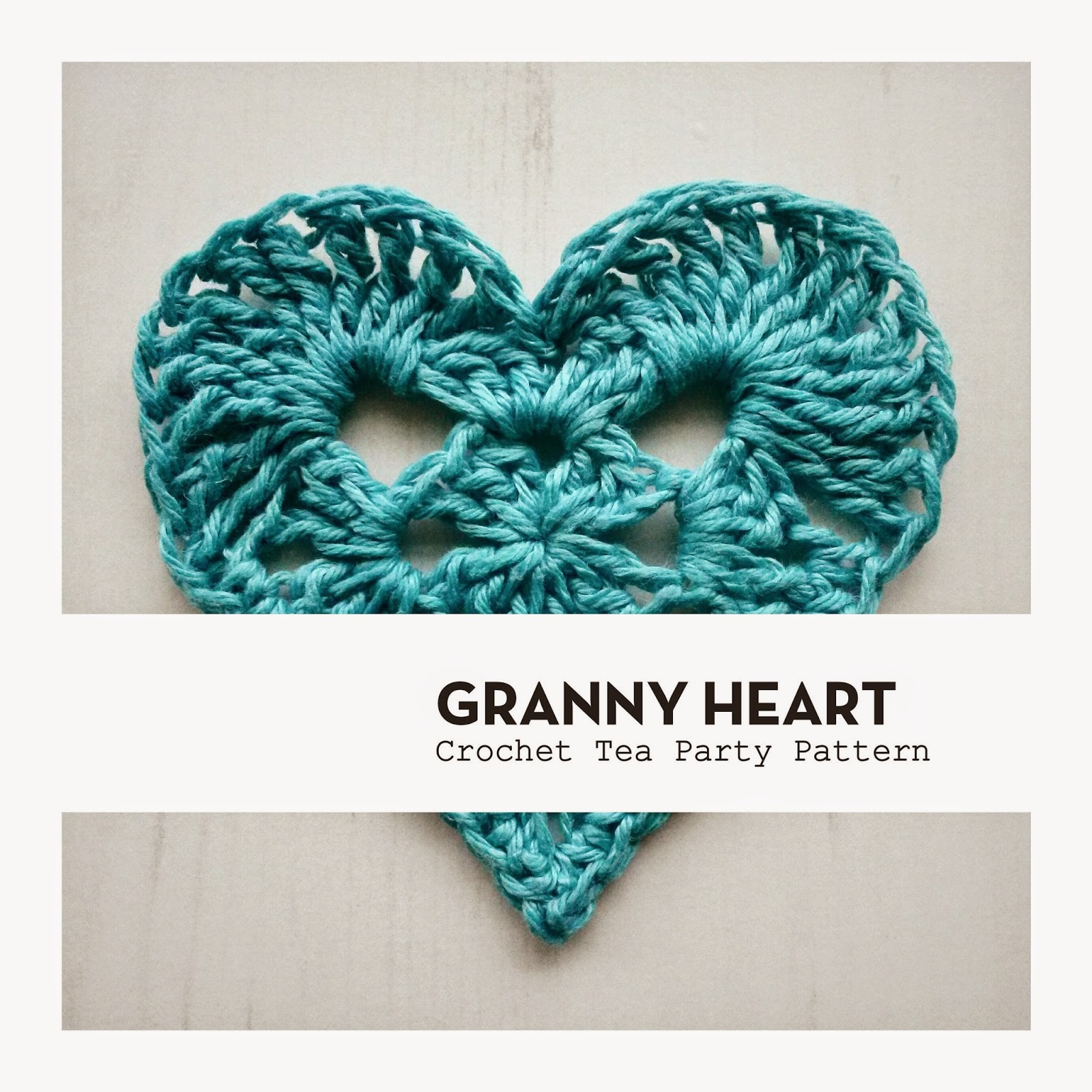 Crochet Tea Party :: Granny Heart Pattern